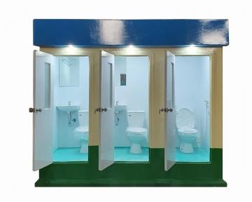 Nhà vệ sinh công công 3 phòng