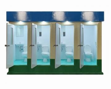 Nhà vệ sinh di động 4 phòng V18.4