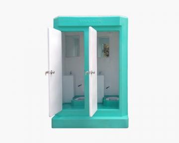 Nhà vệ sinh di động hai phòng