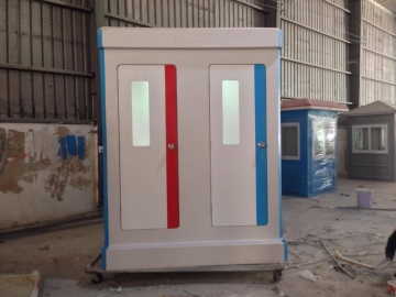 Nhà vệ sinh đôi có cửa 2 màu để phân biệt Nam và Nữ