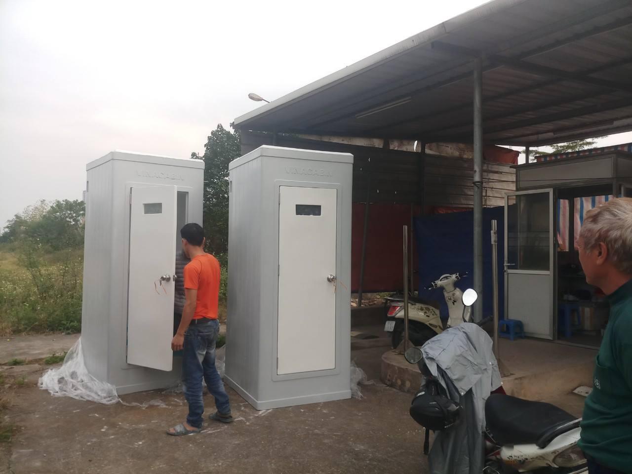 Nhà vệ sinh di động đặc chủng phục vụ thi công cao ốc