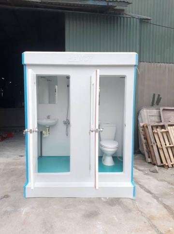 Nhà vệ sinh di động hai phòng một bên phòng tắm một bên nhà vệ sinh
