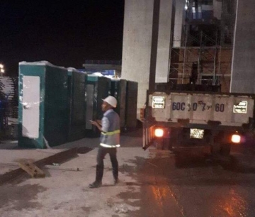 Cung cấp nhà vệ sinh di động phục vụ thi công toàn nhà Landmark 81