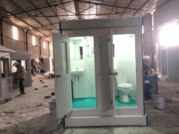 Nhà vệ sinh di động đôi lắp bình nước nóng trực tiếp Ariston
