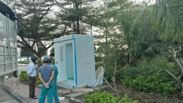 Nhà vệ sinh di động Handy lắp tại công viên TP Đồng Hới
