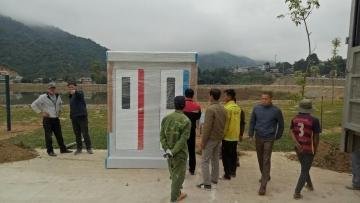 Cung cấp nhà vệ sinh công cộng di động cho dự án công viên tại Lai Châu