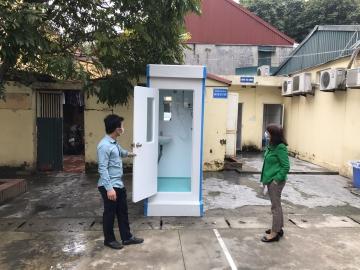 Cung cấp nhà tắm di động tại BV Đống Đa