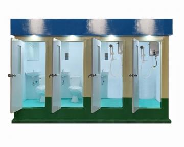 WC công cộng 4 cabin