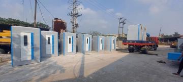 Lắp đặt nhà vệ sinh di động cho các khu các ly