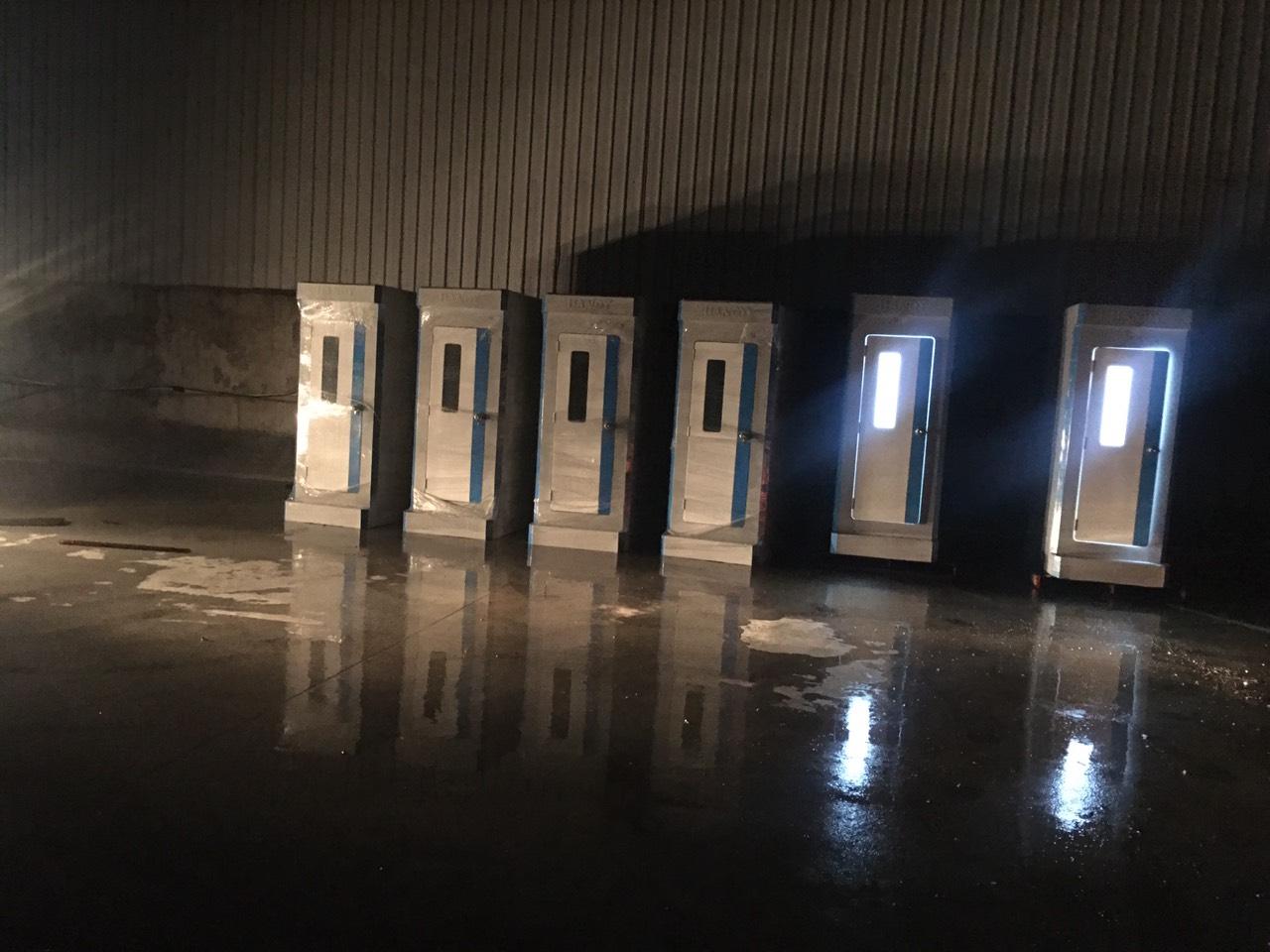 Nhà tắm di động tại khu cách ly trên địa bàn huyện Thuận Thành - Bắc Ninh